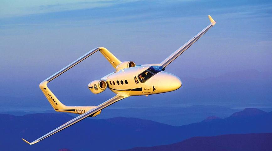 Легкий самолет Adam A700 для горнолыжной экскурсии